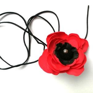 naszyjnik boho kwiaty etno boho handmade