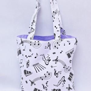 Torba na zakupy, torba shopperka, torba szoperka, eko siatka na zakupy, torba muzyczna, muzyka, nutki