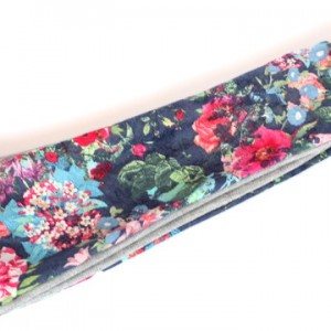 opaska dzianinowa kolorowa wiosenna w kwiaty