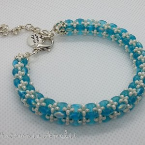 Duo niebieskie bransoletka rękodzieło