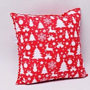 Poduszka świąteczna poduszka ozdobna czerwona