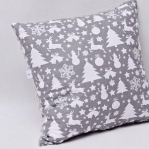 Poduszka świąteczna poduszka ozdobna szara