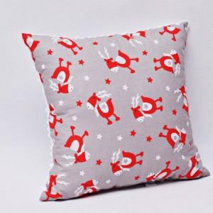 Poduszka świąteczna ozdobna renifer Rudolf biały