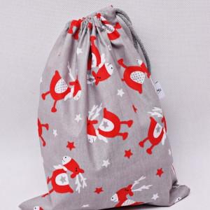 Worek na prezenty worek świąteczny, worek prezentowy renifer Rudolf rozmiar M