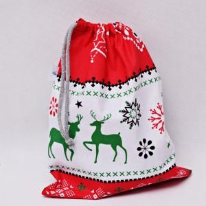 Worek na prezenty worek świąteczny, worek prezentowy sweterek biały