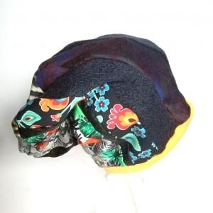 czapka damska etno boho patchwork handmade folk