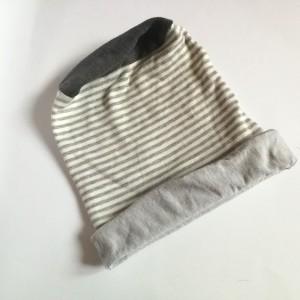 czapka etno boho unisex bawełna paski damsko