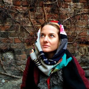 komin patchworkowy zimowy boho handmade kolorowy ciepły frida kahlo