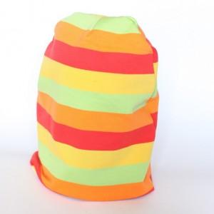 czapka dresowa wiosenna tęczowa