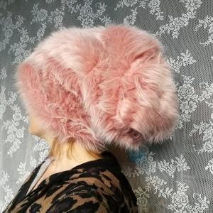 czapka futrzana ciepła zimowa totalny odlot handmade