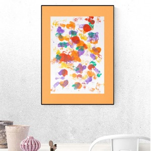 abstrakcja energetyczna, grafika kolorowa, nowoczesna dekoracja na ścianę