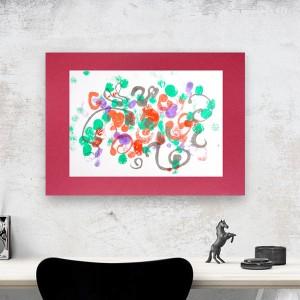 nowoczesna grafika do pokoju, abstrakcyjny obraz malowany ręcznie