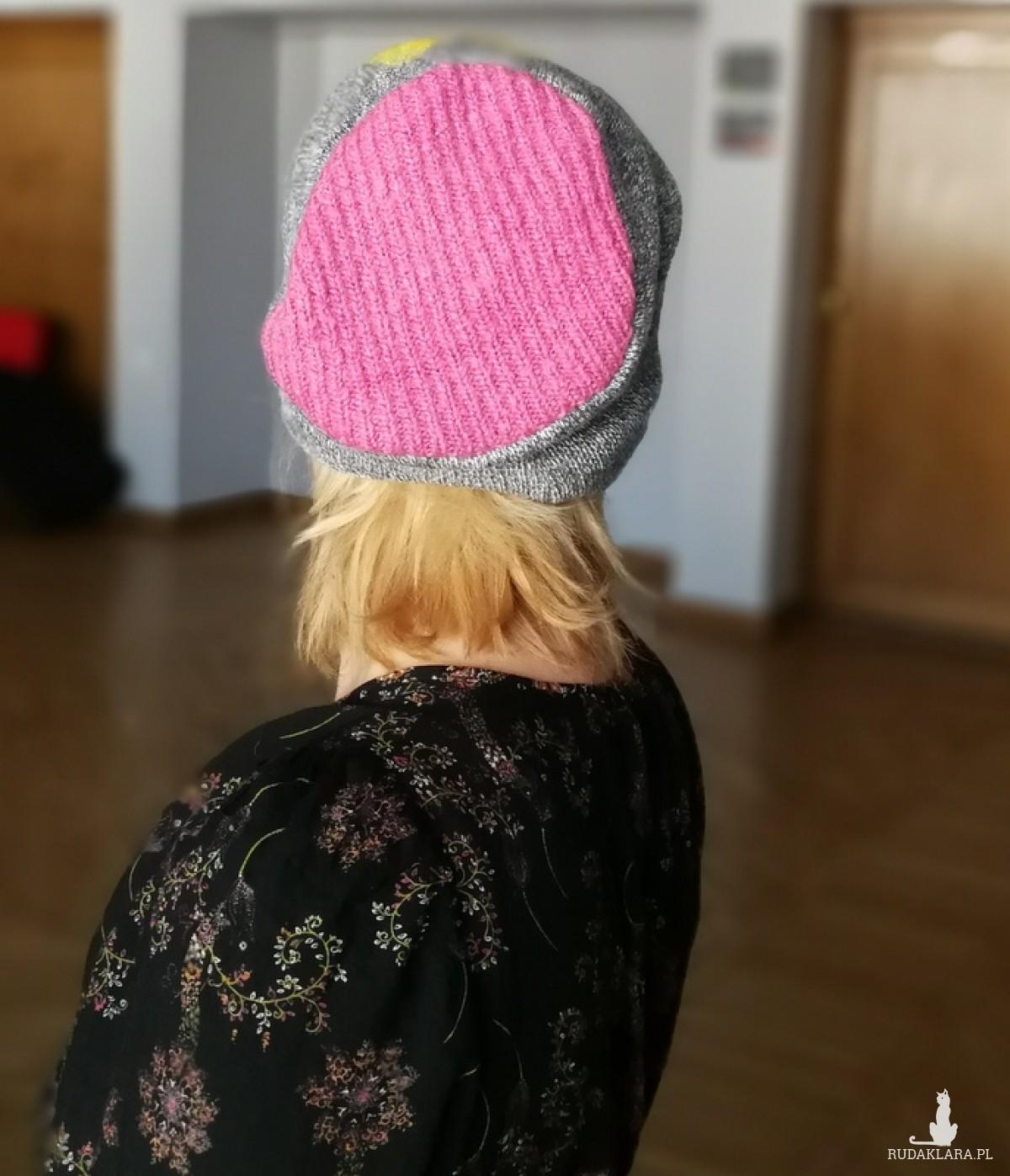 czapka damska zimowa z wełną merynosow