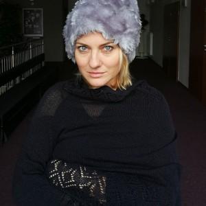 czapka futrzana zimowa ciepła długa handmade kolor szara
