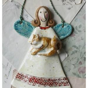 Aniołek z pieskiem Shiba Inu