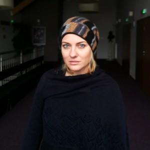 czapka damska ażurowa wełniana handmade