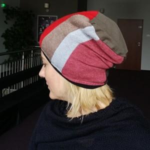 czapka patchworkowa damska etno boho ludowa