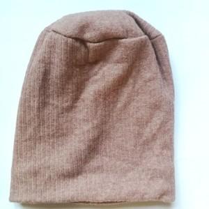 czapka damska wrzosowa ciepła wełniana