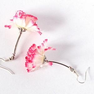 kolczyki kwiatowe gerbery małe