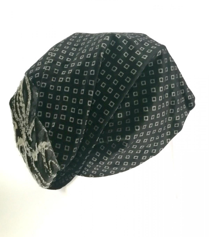 czapka bardzo duża aksamitna damska