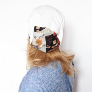 czapka damska wiosenna biała