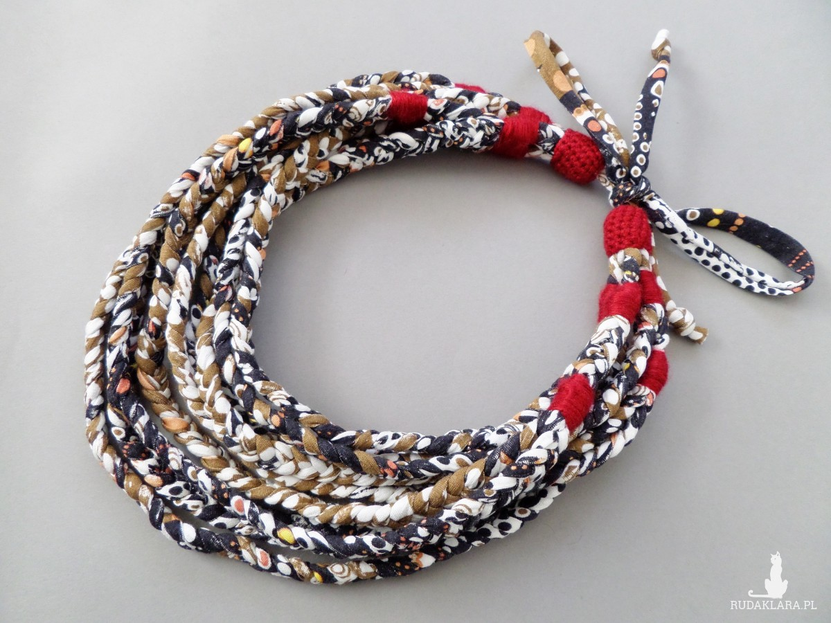 Naszyjnik ECOetnica etniczny masajka zamotka 042