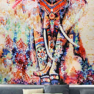 obraz słonia nadruk na tkaninie