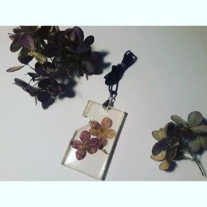 Duży wisior z kwiatami Hortensji