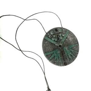 naszyjnik wisior ceramiczny , szkliwiony handmade