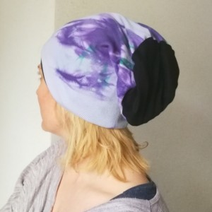 czapka uniwersalna damsko męska sportowa farbowana ręcznie handmade