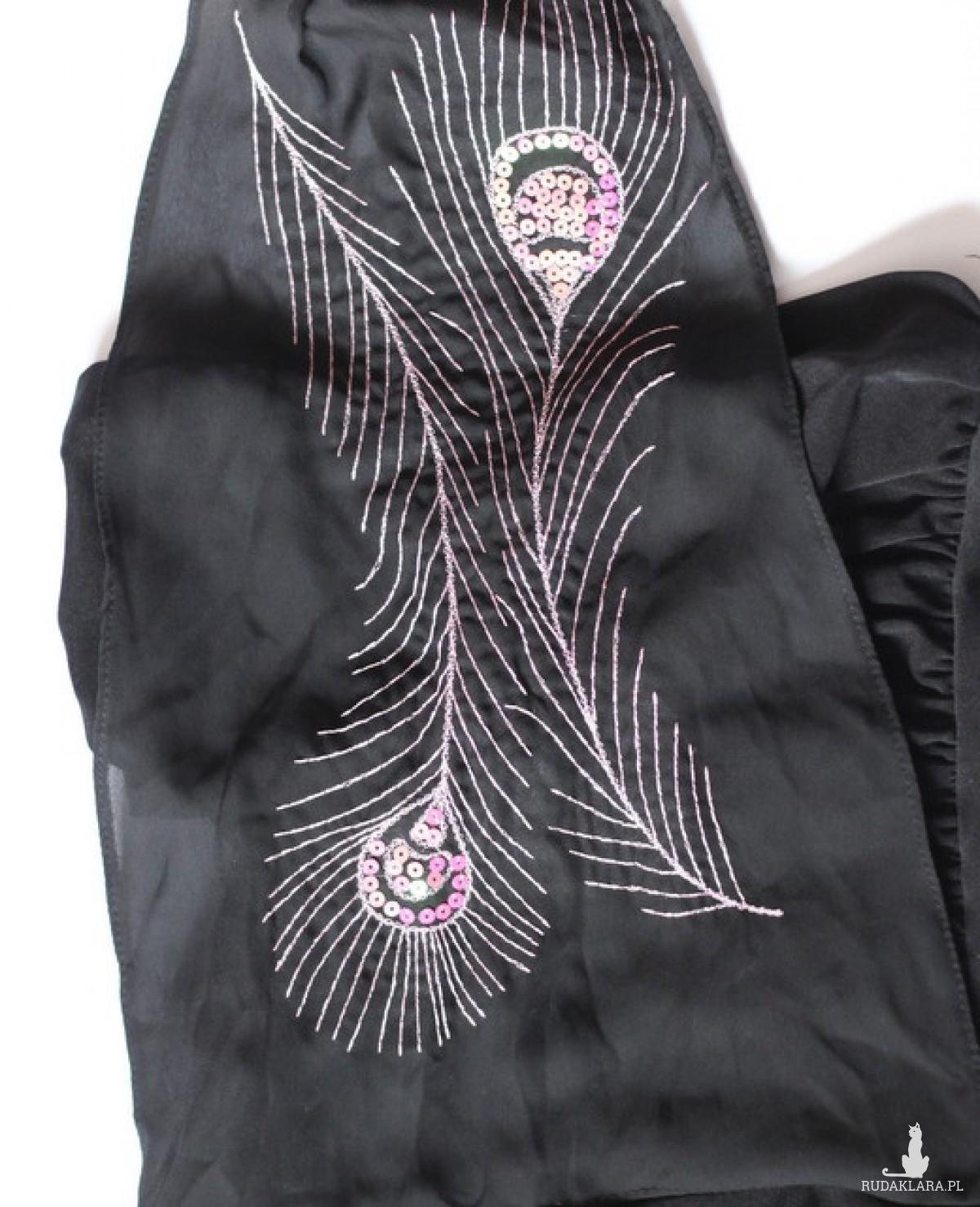 bluzka z cekinowym piórem