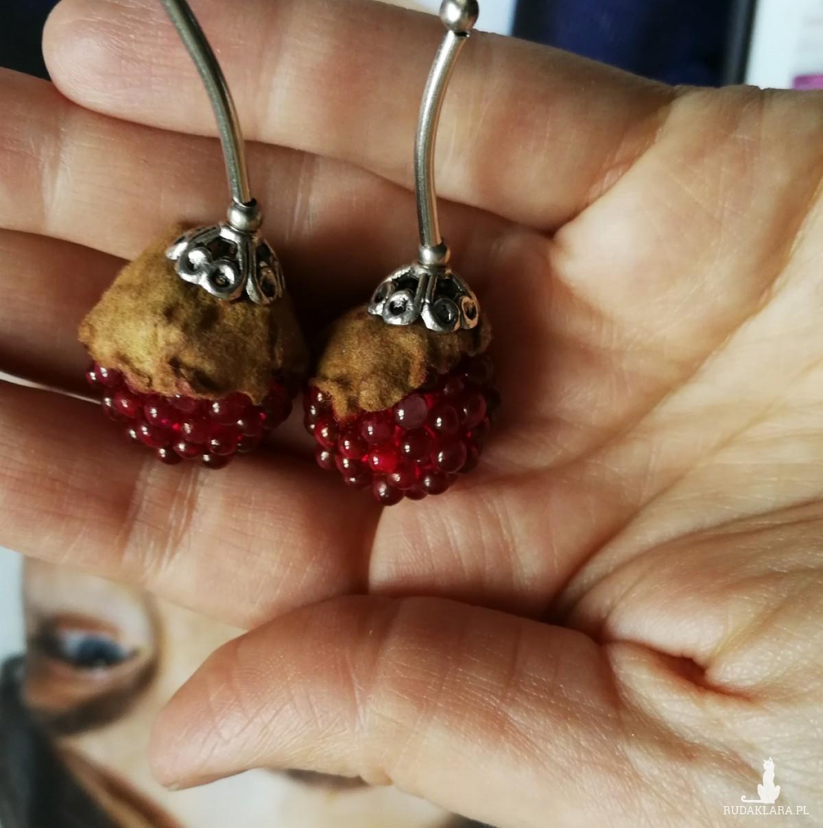 klipsy owoce jeżyny handmade