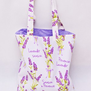 Torba na zakupy, torba shopperka, torba szoperka, eko siatka na zakupy lawenda, kwiaty