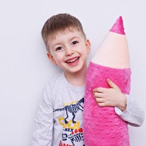 Kredka minky, poduszka dla dziecka, zagłówek dla dziecka, miękka kredka, duża kredka, różowa kredka