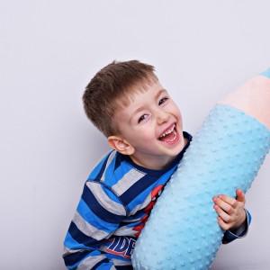 Kredka minky, poduszka dla dziecka, zagłówek dla dziecka, miękka kredka, duża kredka, błękitna kredka