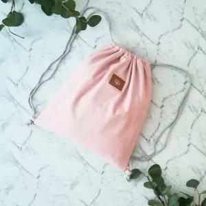 Worek szkolny ,plecak 2 w 1 ,kolor pudrowy róż