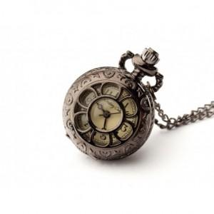 Bratek (Black) - zegarek wisiorek na łańcuszku