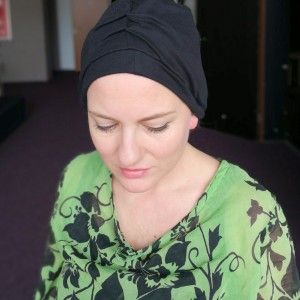 czapka damska czarny turban