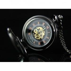 ELEGANCJA CZERNI I (GLOVE) - zegarek kieszonkowy, dewizka