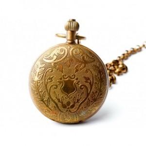 ZŁOTA BUSOLA III - zegarek kieszonkowy, dewizka