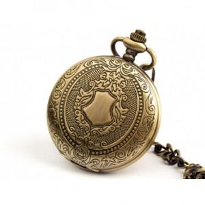RZEŹBIONA PRECYZJA - zegarek na łańcuszku, kieszonkowy