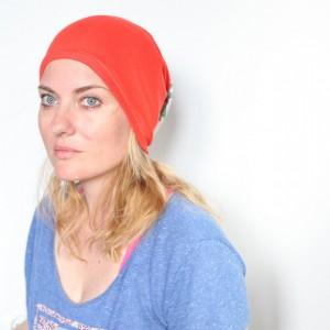 czapka damska dzianinowa wiosenno-letnia