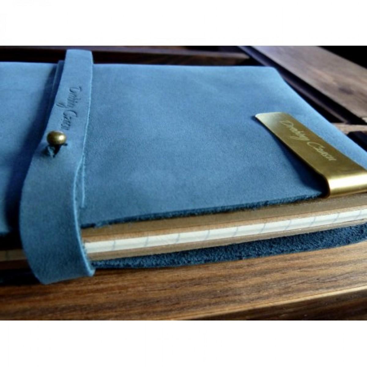 VINTAGE NOTEBOOK - BLUE + AKCESORIA