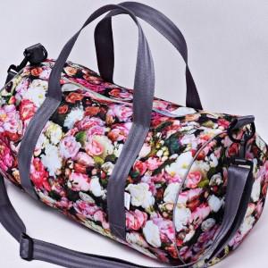 Torba podróżna wodoodporna podręczna, torba na basen siłownię, torba sportowa kwiaty florencji