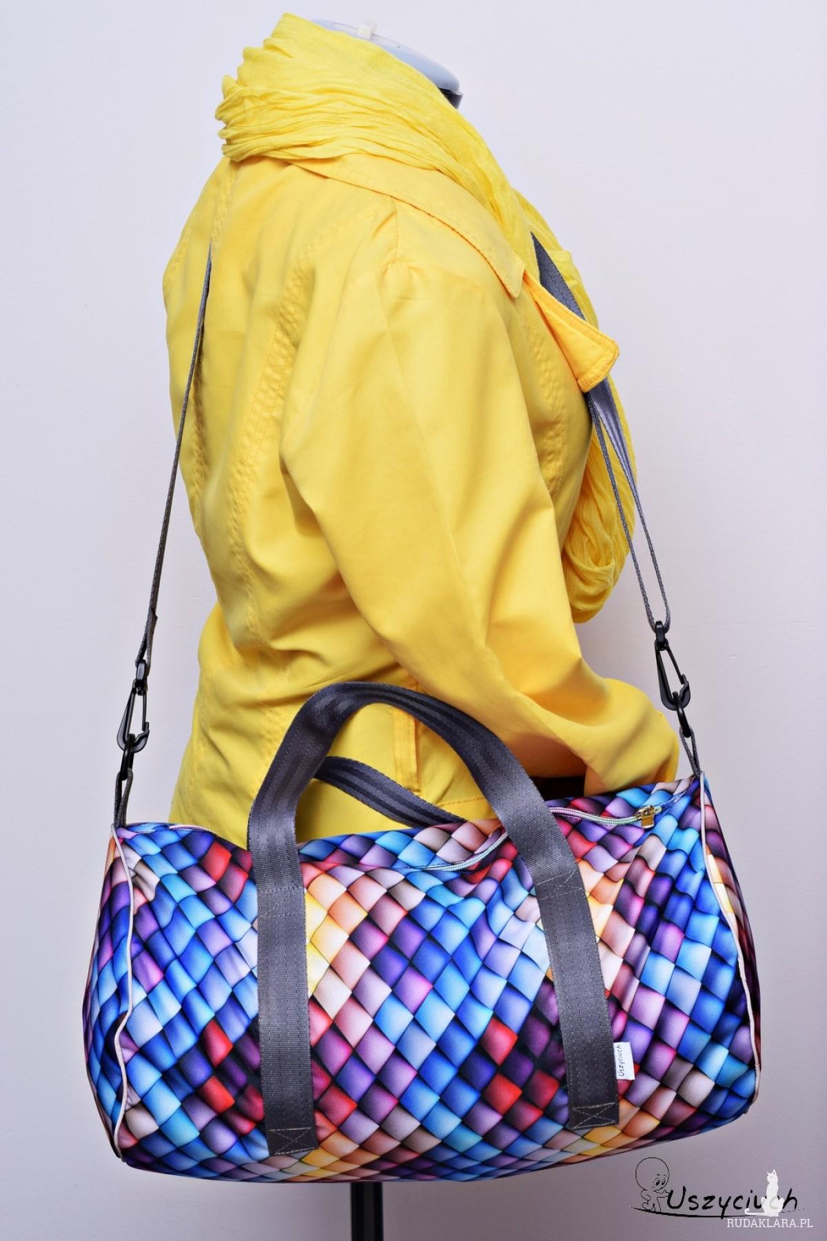 Torba podróżna wodoodporna podręczna, torba na basen siłownię, torba sportowa kolorowa tęcza