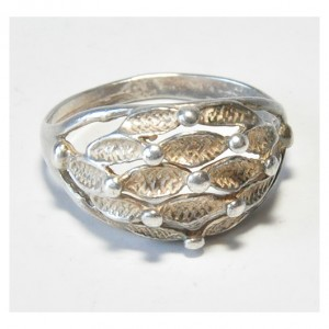 40 pierścionek vintage, śliczny, efektowny; duży, ciekawy front pierścionka; na prezent;