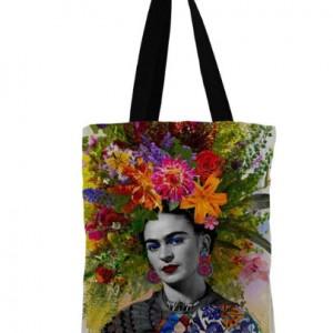 torba shopperka z wizerunkiem Fridy Kahlo