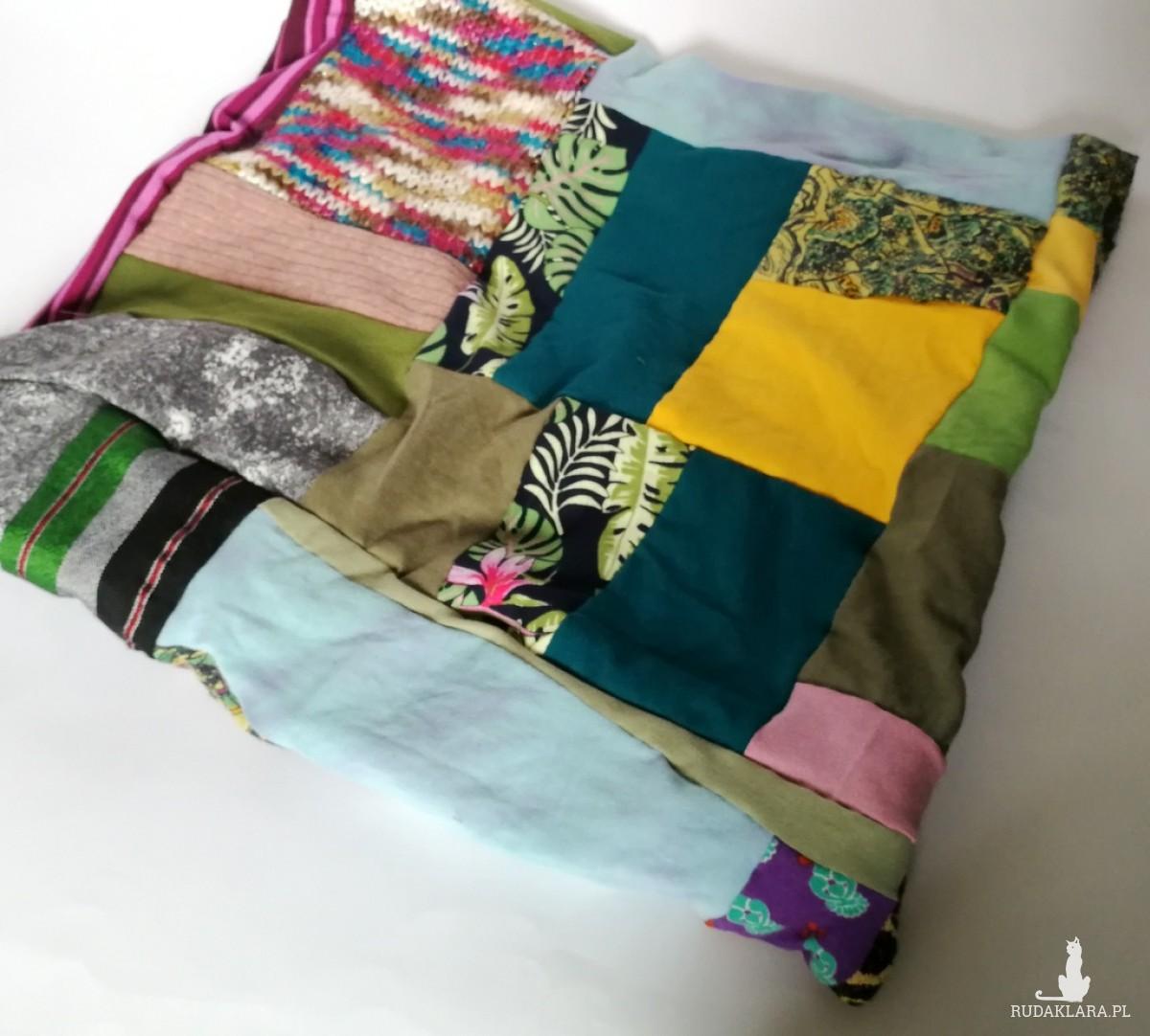 komin wiosenny patchworkowy dobry na rower kolorowy-W1