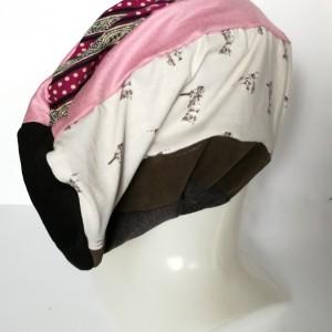 czapka damska sportowa patchworkowa kolorowa wiosenna