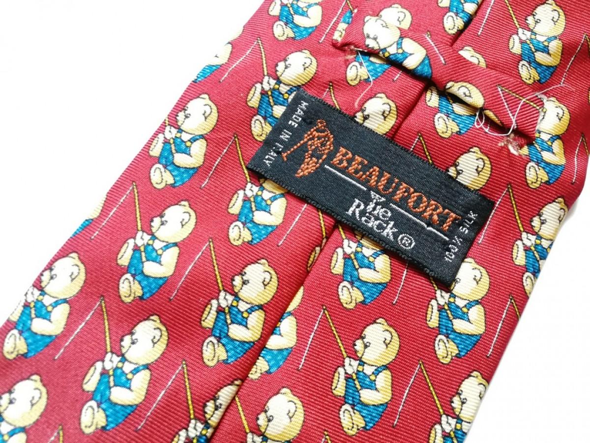 krawat jedwabny  w misie vintage-box Y1- pojedyncza sztuka, polecam stan bdb